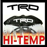 TRD CURVED HIGH TEMPERATURE BRAKE CALIPER DECAL SET
